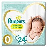Pampers New Baby, 144 Pannolini, Taglia 0 (1-2 kg), 6 confezioni da 24